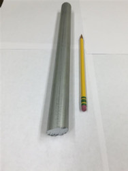 "Zinc Extruded Rods - Price is per Foot 1"" Diameter"