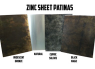 "Zinc Sheet Samples for Counter Tops, Range Hoods Tables - 8"" x 11"""
