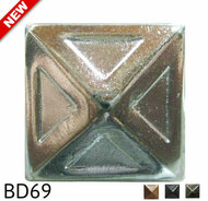 "Pyramid Nail with Recessed Detail - Head Size: 3/4"" Nail Length: 5/8"" - 80 per box"