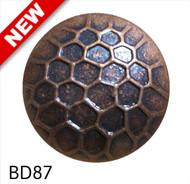 """Bronze Circular Nail with Honeycomb Detail  - Head Size: 7/8"""" Nail Length: 5/8"""" - 150 per box"""
