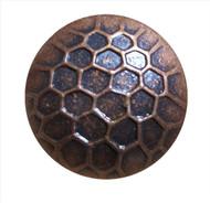 """BD87 - Bronze Circular Nail with Honeycomb Detail  - Head Size: 7/8"""" Nail Length: 5/8"""" - 150 per box"""