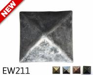 "Square Pyramid Nail/Clavos Head - Head Size: 1.16"" Nail Length: 3/4 - 18/box"