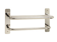 """Seachrome Commercial Stainless Steel 18"""" Heavy Duty Towel Shelf With Bar - 15820-18-PS"""