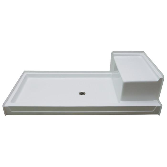 Aquarius AcrylX™ | 72 x 36 Shower Pan with Seat | G7236SH 1S PAN