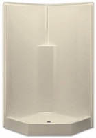 Neo-Angle Corner Shower by Aquarius   39.5 x 39.5   Smooth Wall Gelcoat   Center Drain   G3892SHNA