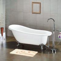"Cambridge Plumbing - Acrylic  Slipper Bathtub 67"" X 30"" - AST67"