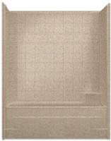 Aquarius Millennia 60 x 33 Gelcoat Tub Shower Combination With Tile Pattern - Drain Right - M6032TSTileR