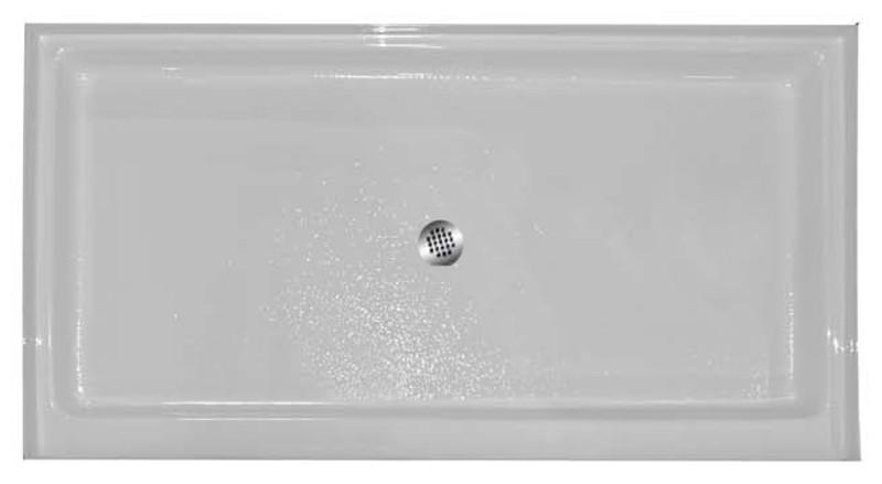 "Aquarius AB 3448 | 48W x 34D x 5.25H | Center drain | Premium Acrylic shower pan | 4"" threshold"