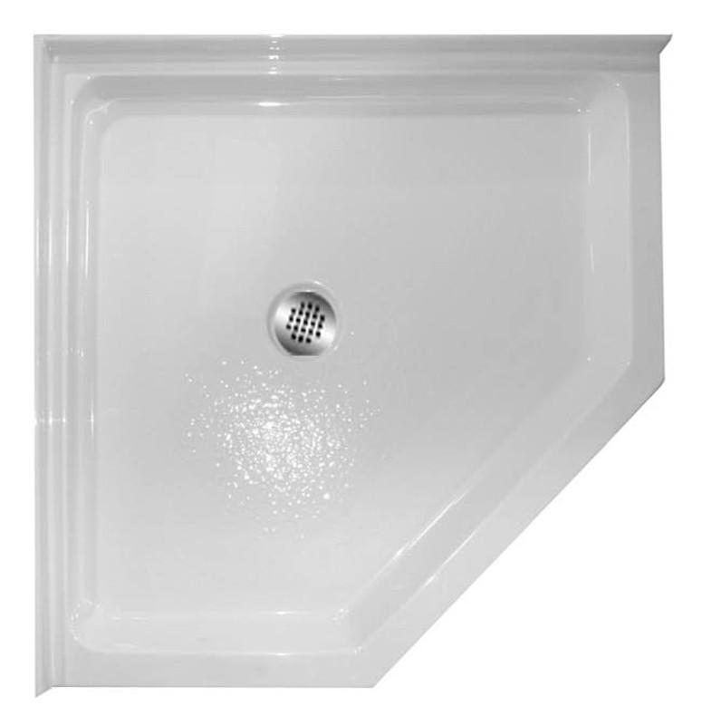 Popular Aquarius 38 x 38 Acrylic corner shower pan | Drain Location  WO35