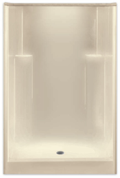 Aquarius AcrylX ™ 48W x 35.5D x 74H Residential Shower Smooth Wall Center Drain G4836SHNS