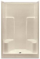 Aquarius Gelcoat 48 x 36.125 Residential Shower Smooth Wall w/ 2 Molded Seats & Center Drain - G4895SH2S