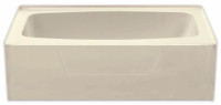 Aquarius 54 x 27 Residential Gelcoat Rectangular Soaking Tub - Drain Left - G5427TOL