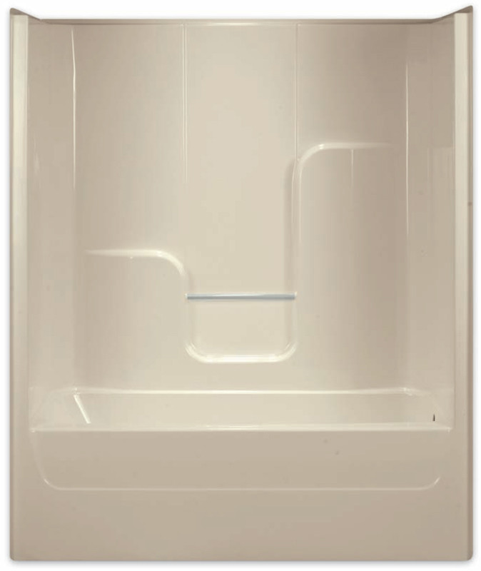 Aquarius | Gelcoat 60x35.75 Tub Shower Smooth Wall Left Drain | G6063TSL