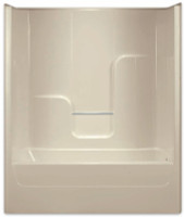 Aquarius | Gelcoat 60x35.75 Tub Shower Smooth Wall Left Drain | G6063TSL