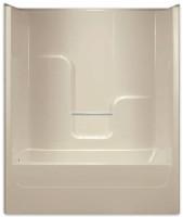 Aquarius AcrylX™ 60 x 32 Tub Shower Combo Smooth Wall Right Side Drain G6004TSR