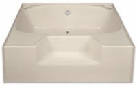 Aquarius 54 x 41 Residential Gelcoat Soaking Tub - Drain Center - G5441TO