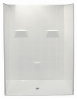 "Aquarius 60 x 31 Barrier Free Gelcoat Shower Stall | 5-Piece | .75"" Threshold 