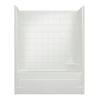 "Aquarius CHM 6032 TS | Tub Shower | 60W x 33D x 76.5H | 6"" tile pattern 