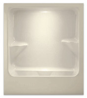 Aquarius 72 x 36 Acrylic Residential Whirlpool Tub Shower Combination Enclosed Drain Left - A7236TSWP L