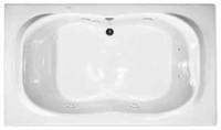 Aquarius RN RIO 7242 | 72W x 42D x 21.5H | Six foot Premium Acrylic Soaker tub | Drain Location: Center