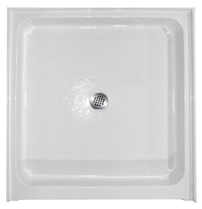 "Aquarius 36 x 36 Acrylic Shower Base With 6"" Easy-Step Threshold Center Drain - AB-3636"