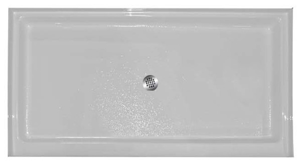 "Aquarius AB 3460   60W x 34D x 5.25H   Center drain Premium Acrylic shower pan   4"" threshold"
