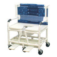 Bariatric Shower Chair With Soft Seat Deluxe Enlongated
