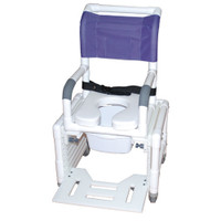Adjustable Shower Commode Chair Ideal For Pediatric Or Small Adult