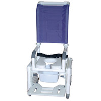Adjustable Shower Commode Chair Ideal For Pediatric Or Small Adult 2