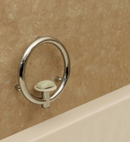 Invisia Soap Dish Polished Chrome Integrated support rail with a 500lbs capacity INV-SD-CP