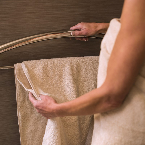 """Invisia Towel Bar 24"""" Brushed Stainless Integrated support rail with a 500lbs capacity INV-TB24-BS"""