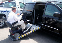 "Roll-A-Ramp® 30"" Wide Power Bi-Fold Van Ramp 7' x 30""   Pendant Cord Control   AF1"