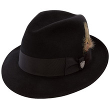 Dobbs Dayton Black Firm Felt Hat