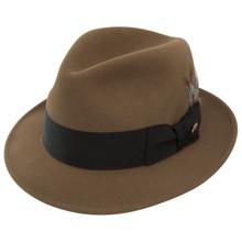 Dobbs Jet Light Brown Firm Felt Hat