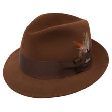 Dobbs Jet Brown Firm Felt Hat