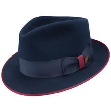 Dobbs Hashtag Navy Wool Hat