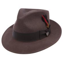 Dobbs Strand Light Brown Wool Hat