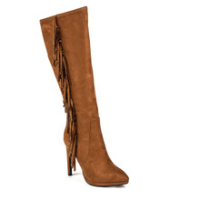 Lady Couture Sydney Tan Crystal Boots