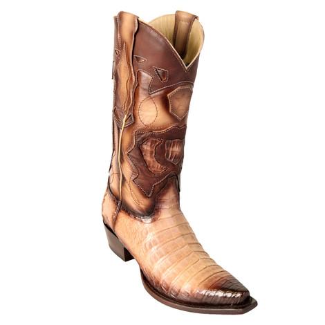 Los Altos Oryx Genuine Caiman Snip Toe Boots