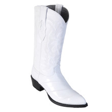 Los Altos White Genuine Eelskin Exotic Boots