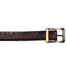 Los Altos Brown Genuine Ostrich-skin Belt