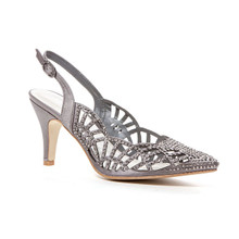 Lady Couture Ester Gray Embellished Heels