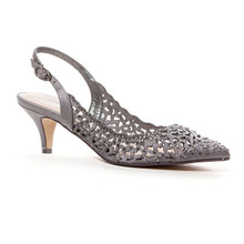 Lady Couture Jewel Gray Embellished Dress Heels
