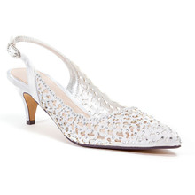 Lady Couture Jewel Silver Embellished Dress Heels