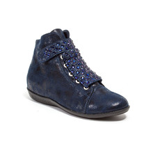 Lady Couture Rock Navy Embellished Casual Booties