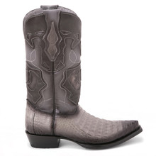 Gray Genuine Caiman Belly Boots By King Exotic