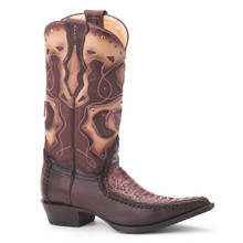 King Exotic Brown Genuine Python Boots