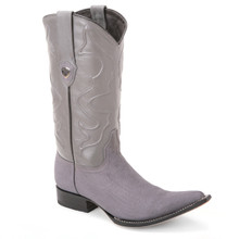 Wild West Gray Genuine Shark Skin Boots
