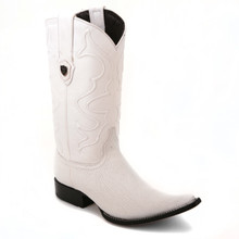 Wild West White Genuine Shark Skin Boots