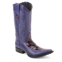Wild West Purple Genuine Eelskin Boots